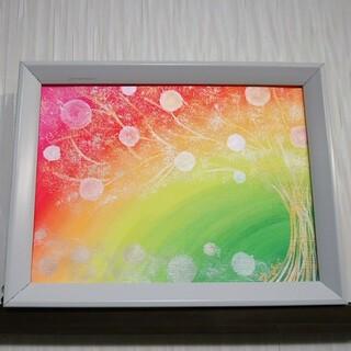 ヒーリング絵画*天空虹~夢色光樹~夢玉 思いを叶える 癒し 全体運 sunsui(絵画/タペストリー)