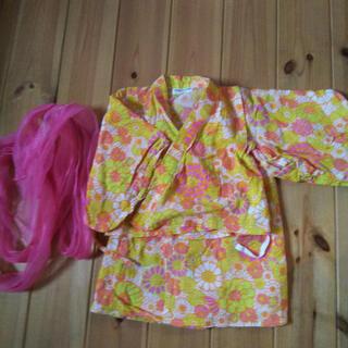 アンパサンド(ampersand)のアンパサンド ワンピース 浴衣 サイズ90(甚平/浴衣)