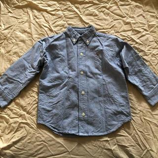 ラルフローレン(Ralph Lauren)の美品★ラルフローレン 3T 100 ボタンダウン シャツ ブラウス 水色(ブラウス)