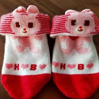 ホットビスケッツ(HOT BISCUITS)の靴下4足セット(9-13cm:新生児〜乳児)(靴下/タイツ)