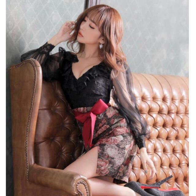 JEWELS(ジュエルズ)のロマンティックヴィンテージチュールスリーブドレス レディースのフォーマル/ドレス(ミニドレス)の商品写真