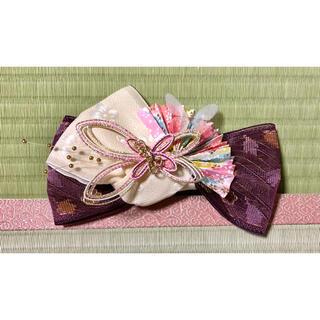 蝶扇子の髪飾り〜畳縁の髪飾り〜(ヘアアクセサリー)