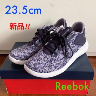 リーボック(Reebok)の【新品】Reebok スニーカー 23.5cm パープル(スニーカー)