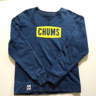 CHUMS - CHUMS スウェット ボックスロゴ トレーナー ネイビー Mサイズ