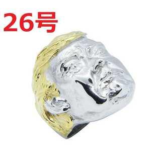 アメリカン アクセ 希少品 トランプ 大統領 シルバー リング 指輪 26号(リング(指輪))