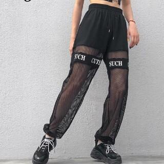 アンビー(ENVYM)のメッシュ切替パンツ*スポーティ*韓国ファッション(カジュアルパンツ)