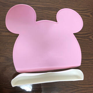 ディズニー(Disney)のミッキー ランチマット シリコンマット ランチョンマット(離乳食器セット)