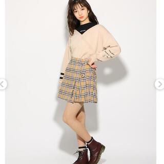 PINK-latte - (新品)ピンクラテ    ★ニコラ掲載★ハートチェーンラップ風ミニスカート