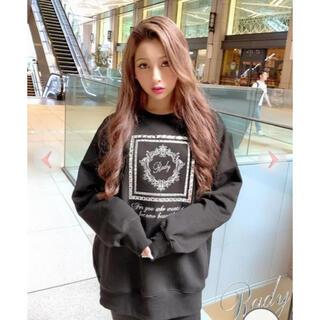 Rady - ♡rady ビジュー トレーナー♡人気のブラックMサイズ