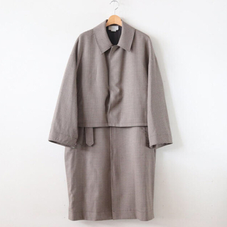 サンシー(SUNSEA)のYOKE 19aw 3way coat (size M)タグあり(ステンカラーコート)
