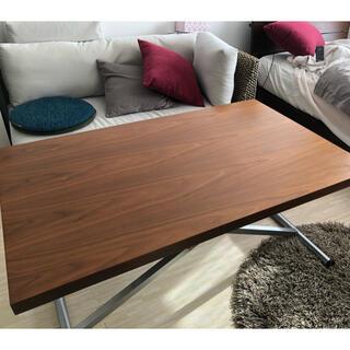 ニトリ(ニトリ)のニトリ ガス圧式昇降テーブル アクティブ ウォルナット(ダイニングテーブル)