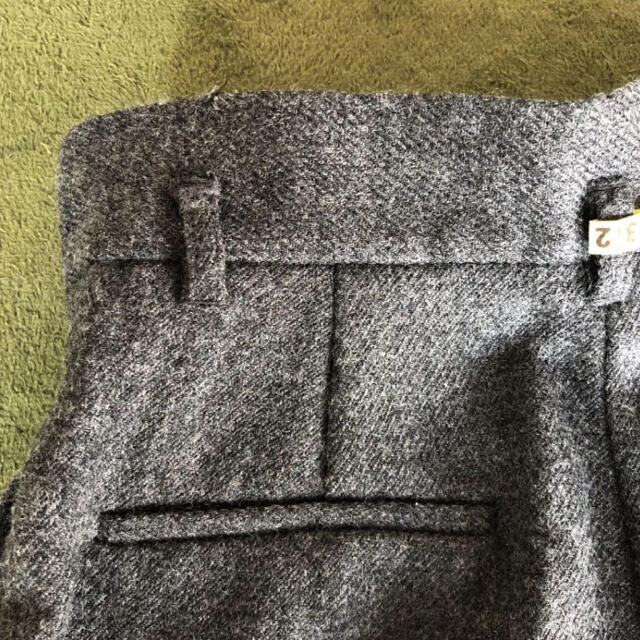 Mila Owen(ミラオーウェン)のベルト付き ウール ワイドパンツ レディースのパンツ(カジュアルパンツ)の商品写真