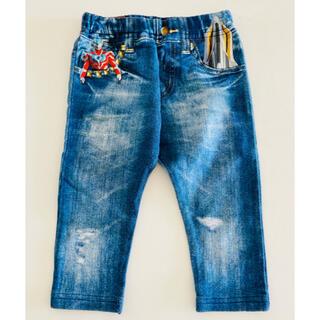 バンダイ(BANDAI)の【ストンプスタンプ】ウルトラマン 転写 デニムプリント パンツ 80(パンツ)