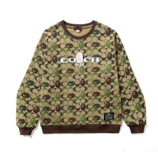A BATHING APE - A bathing ape coach コラボ スウェット