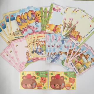 クマノプーサン(くまのプーさん)の新品未使用 プーさん 封筒セット(カード/レター/ラッピング)
