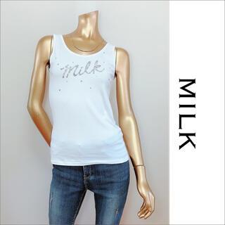 ミルク(MILK)のMILK milkロゴ タンクトップ♡ジルスチュアート deicy Katie(タンクトップ)