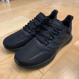 アディダス(adidas)のアディダス FALCONRUN M ランニングシューズ ブラック G28970(シューズ)