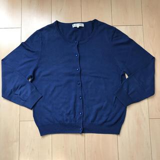 クミキョク(kumikyoku(組曲))の組曲 コットンベースカーディガン 7分袖 大きめのサイズ(カーディガン)