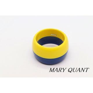 マリークワント(MARY QUANT)の【WA23】MARY QUANT マリークヮント バイカラー 幅広 バングル(ブレスレット/バングル)