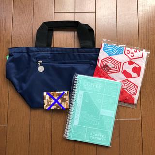 カルディ(KALDI)のカルディ KALDI  福袋トート もへじエコバッグ オリジナルリングノート(日用品/生活雑貨)