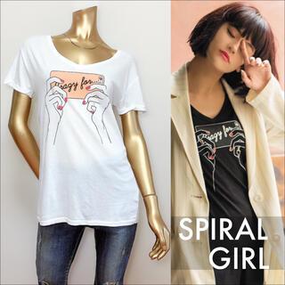 スパイラルガール(SPIRAL GIRL)のSPIRAL GIRL フォトシューティング Tシャツ♡マウジー SLY エモダ(Tシャツ(半袖/袖なし))