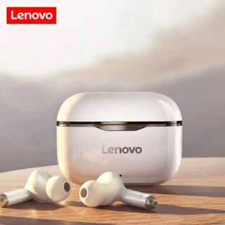 レノボ(Lenovo)のLenovo 高品質ワイヤレスイヤホン グレーBluetooth(ヘッドフォン/イヤフォン)