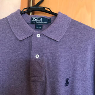 POLO RALPH LAUREN - 【古着】Polo Ralph Lauren ポロシャツ(長袖) L 紫色