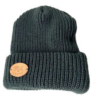 イルビゾンテ(IL BISONTE)のビーニー ニット帽子 ニットキャップ イルビゾンテ 緑 新品 グリーン(ニット帽/ビーニー)