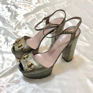グッチ(Gucci)のGucci horsebit high heel metallic(ハイヒール/パンプス)