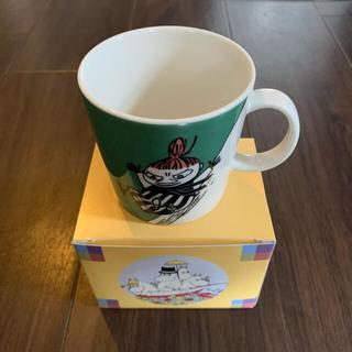 アラビア(ARABIA)の最終セール ARABIA アラビア リトルミィ  マグカップ グリーン 箱付き(グラス/カップ)