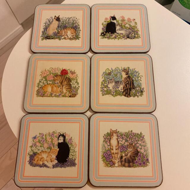 Harrods(ハロッズ)のハロッズ コースター 6枚セット インテリア/住まい/日用品のキッチン/食器(テーブル用品)の商品写真