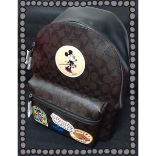 ディズニー(Disney)のCOACHコーチDisneyディズニー限定コラボリュックサック(リュック/バックパック)
