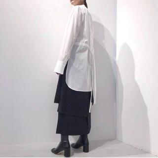 ENFOLD - ENFOLD エンフォルド2019AWウールサージスカート