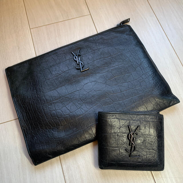 Saint Laurent(サンローラン)のモノグラム・サンローラン クラッチバック メンズのバッグ(セカンドバッグ/クラッチバッグ)の商品写真