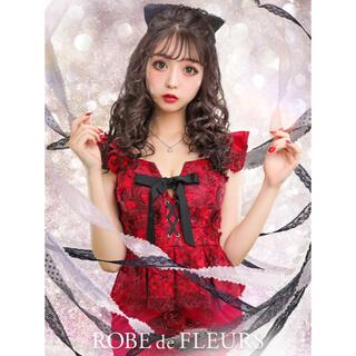 ローブ(ROBE)のラメ刺繍レースタイトドレス(ミニドレス)