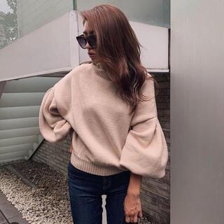rienda - rienda M/N Tuck Shoulder Knit TOP