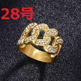 ブリンブリン マイアミキューバン リング ゴールド 指輪 28号(リング(指輪))