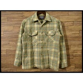 ペンドルトン(PENDLETON)の70s 80s OLD ペンドルトン ウール チェック オープンカラー シャツ(シャツ)