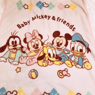 ディズニー(Disney)の美品 ディズニー ミッキー ミニー ベビー 子供用 毛布 ①(毛布)