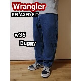 ラングラー(Wrangler)のWranglerラングラー バギーデニムパンツ バギージーンズ テーパードパンツ(デニム/ジーンズ)