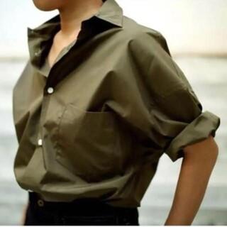 マディソンブルー(MADISONBLUE)の■新品タグ付■Madison blue J.BRANDLEYシャツ カーキ(シャツ/ブラウス(長袖/七分))