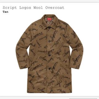 シュプリーム(Supreme)の【M】script logos wool overcoat(ステンカラーコート)