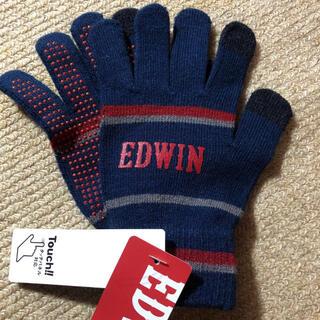 エドウィン(EDWIN)のEDWIN エドウイン★キッズ手袋 すべり止め付★人差し指タッチパネル対応(手袋)