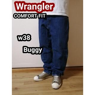 ラングラー(Wrangler)のWrangler ラングラーバギージーンズ バギーデニム テーパードパンツw38(デニム/ジーンズ)