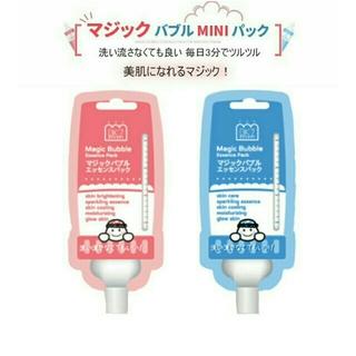 ニコちゃん様 マジックバブルパック ピンク一個 ピンク ブルー (パック/フェイスマスク)