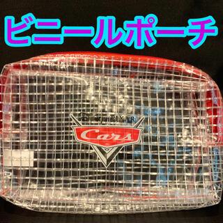 ディズニー(Disney)のカーズ Cars  車 ディズニー ピクサー ポーチ 格子 未使用 赤 マチ付 (その他)