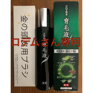 コバヤシセイヤク(小林製薬)のアロエ製薬 薬用育毛液EXα2本、金の頭皮用ブラシ(その他)