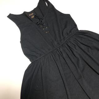 エゴイスト(EGOIST)のブラック 編み込み ベーシックワンピース(ミニワンピース)
