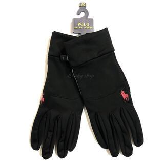 ポロラルフローレン(POLO RALPH LAUREN)の【未使用】ポロラルフローレン グローブ 手袋 裏起毛 L-XL 黒 ブラック(手袋)