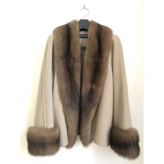 フォクシー(FOXEY)の美品FOXEYフォクシーブティック ロシアンセーブル&カシミヤ100%コート(毛皮/ファーコート)